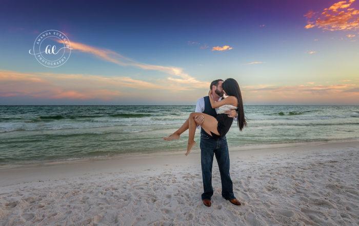 Beach Sunset Engagement Session Jessica Kyle